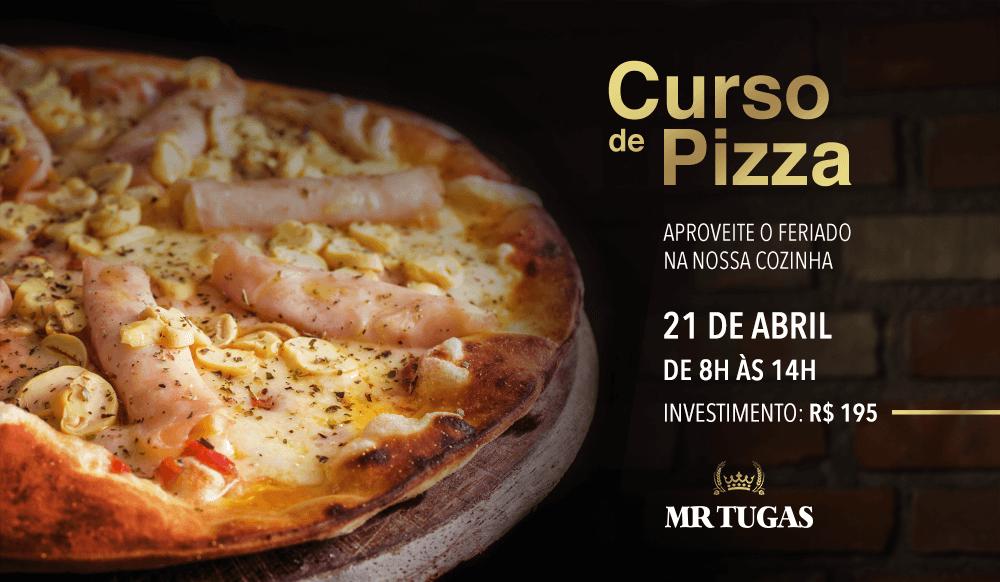 Teremos Curso de Pizzas em Abril! Ideal para você aproveitar o feriado na nossa cozinha. Será no dia 21 de abril, de 8 às 14h. O investimento para participar é de R$ 195. Esperamos você!